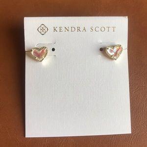 Ari dichroic glass heart stud earrings KendraScott